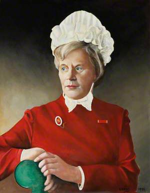 Miss A. E. Vallely, MBE, SRN, RMN, Matron of the Royal Hospital Chelsea (1984–1993)
