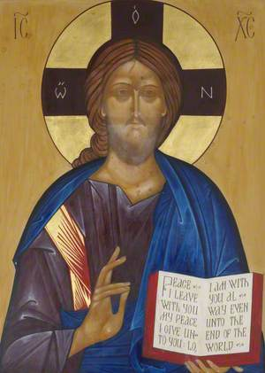Icon with Christ Pantocrator