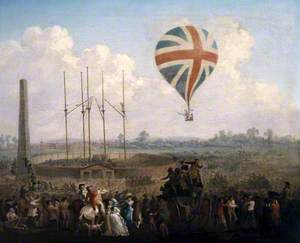 Lunardi's Second Balloon Ascending from St George's Fields, 1785
