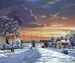 Snow on Rainford Bypass, Merseyside