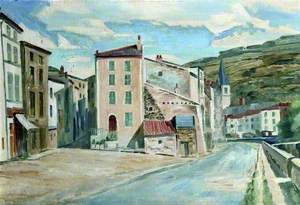A Street in Issoire, France