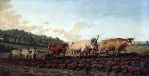 Ploughing in the Nivernais, France