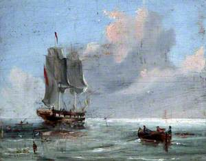 Sailing Ship Painted for Captain Marya