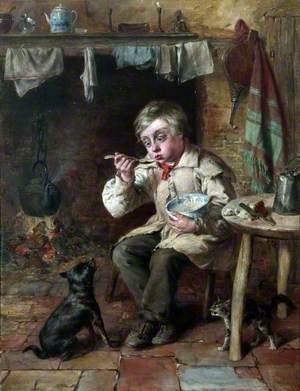 A Boy Eating Porridge