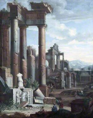 Classical Ruins with Figures in the Morning