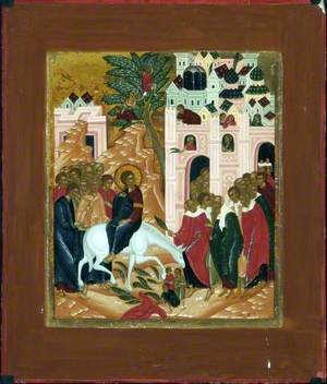 Icon with the Entry into Jerusalem