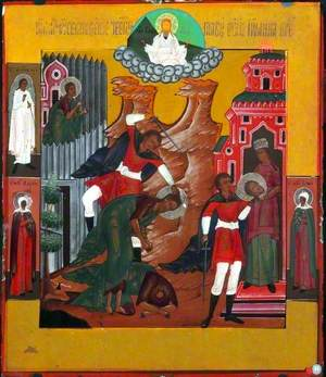 Icon with the Beheading of John the Baptist