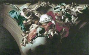 Study for a Decorative Scheme with a Group Representing Charity