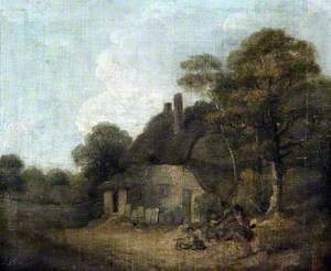 Country Cottage with Figures