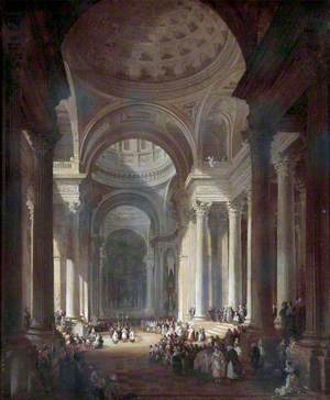 Interior of the Church of St Geneviève, Paris