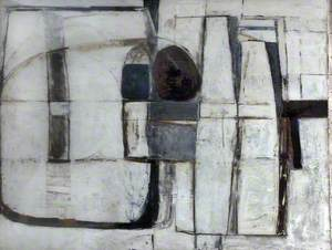 Enclosed Forms, Brown and Blue, 1965