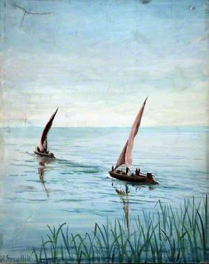 Two Boats by a Shore