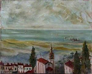 European Coastal Town Looking Out to Sea