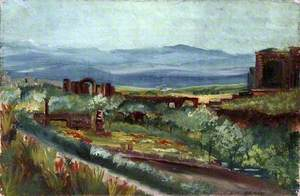 Landscape with Ruins in a Cultivated Valley