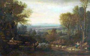 Landscape with Figures and Sheep