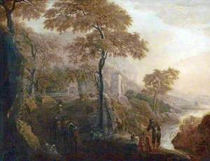 Italian Landscape with Muleteers
