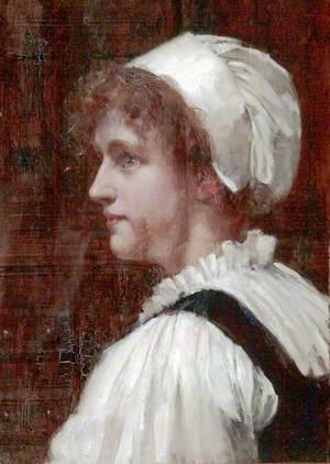 Head of a Girl in a White Cap