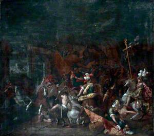 Constantine Defeating Maxentius at the Milvian Bridge
