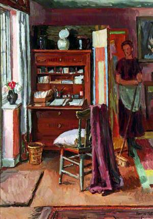 Interior with a Housemaid