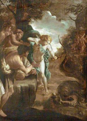 Apollo Slaying the Serpent Python