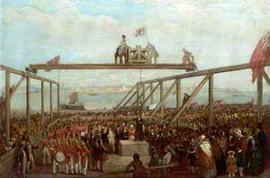 The Laying of a Foundation Stone, Birkenhead Docks, Wirral
