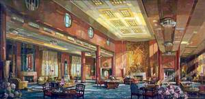 First Class Lounge of the 'Queen Mary'
