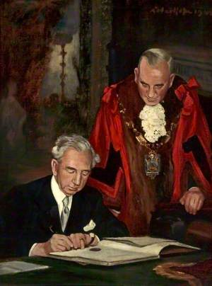 Lord Leverhulme and Alderman R. Williams, Mayor of Bebington
