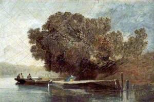 Landscape, Boat on a River