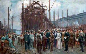 Royal Visit of Their Majesties King George V and Queen Mary to Cammell Laird, Birkenhead, 14 May 1917