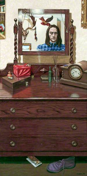 Reflection in a Sideboard Mirror