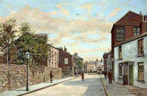 Wallasey Road from the Corner of St Alban's Road, Wallasey, Wirral