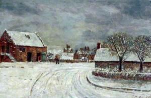 Snow Scene, Leasowe Road, Wallasey Village, Wirral