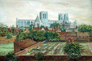 York Minster Cathedral from the City Walls, 1924