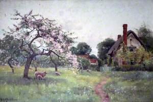 A Gloucestershire Orchard in the Spring