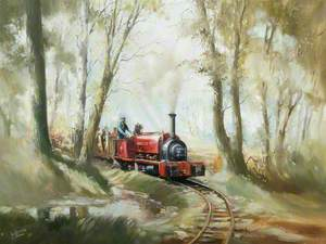 Narrow Gauge Locomotive No. 1643, 'Bronllwyd', Being Driven by Alan Bloom