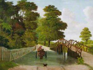 Costessey Stick Bridge, Norfolk, and Ford with Pony and Trap Crossing