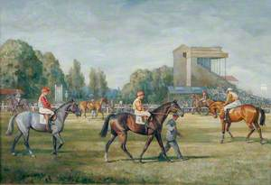 Racehorses Parading