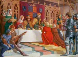 King John of France Presenting His Cup to the Mayor of Lynn, Robert Braunche, 1349