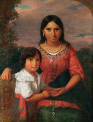 Pocahontas and Her Son Thomas Rolfe