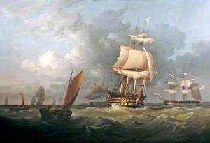 HMS 'Victory' Entering Portsmouth, 1844