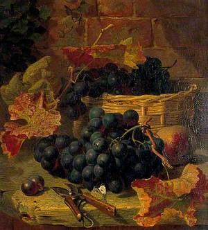 Still Life, Black Grapes