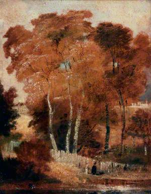 Landscape with Birches and a Pond