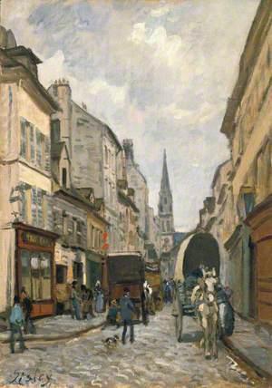 A Street Scene (La grande rue à Argenteuil)