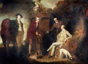 A Shooting Party at Cavenham Park, Bury St Edmunds, Sir Simon le Blanc and Nephews