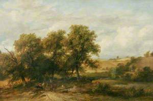 Landscape with a Road Winding through Trees with Figures