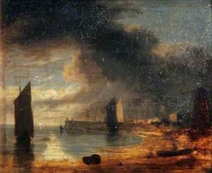 Yarmouth Jetty, Norfolk, Moonlight Scene