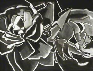 Two Roses, Black and White