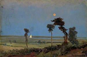 Moonlight River Scene