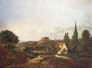 A View of Norwich Castle and Cathedral, Norfolk