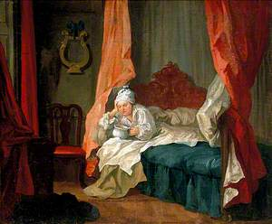 Francis Matthew Schutz in His Bed